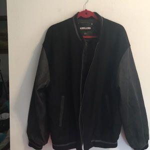 Kirkland Men's leather and wool jacket, L
